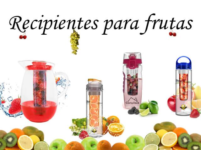 Bidones con recipientes para fruta