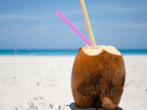 agua con sabor a coco